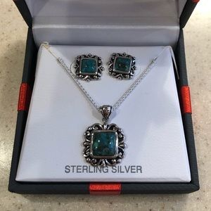 Sterling Silver Turquoise 2 Piece Set